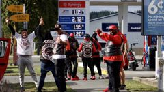 The Mighty Mongrel Mob Barbarian MC - a motorcycle chapter offshoot of New Zealand's biggest gang - descended on Christchurch for a national hui over the weekend. Photo / George Heard