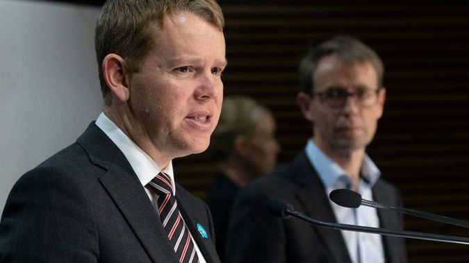 Minister for Covid-19 Response Chris Hipkins and Director-General of Health Ashley Bloomfield. (Photo / NZ Herald)
