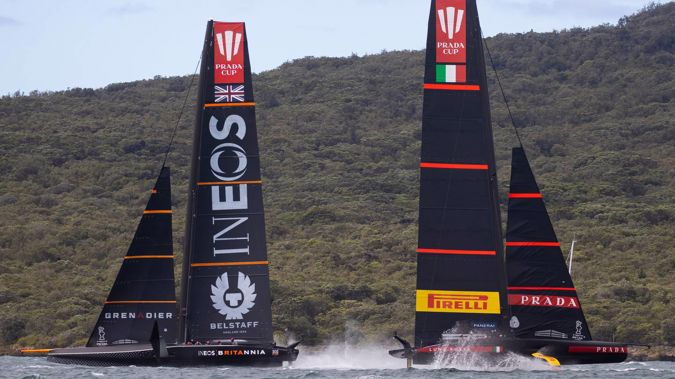 Ineos Team UK and Luna Rossa will battle it out in the Prada Cup final. Photo / Brett Phibbs