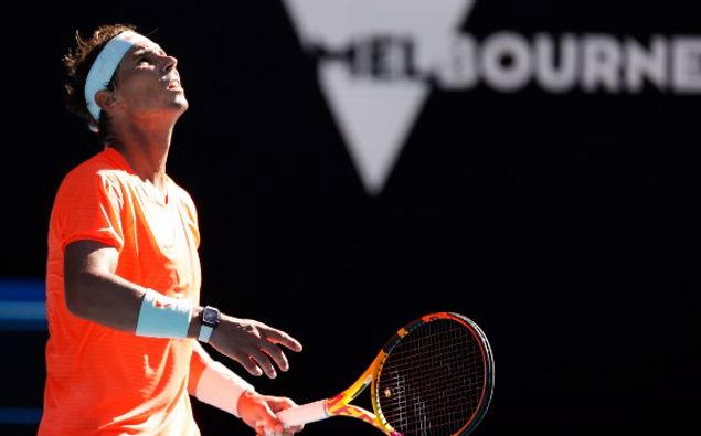 Rafael Nadal at the Australian Open. (Photo / AP)