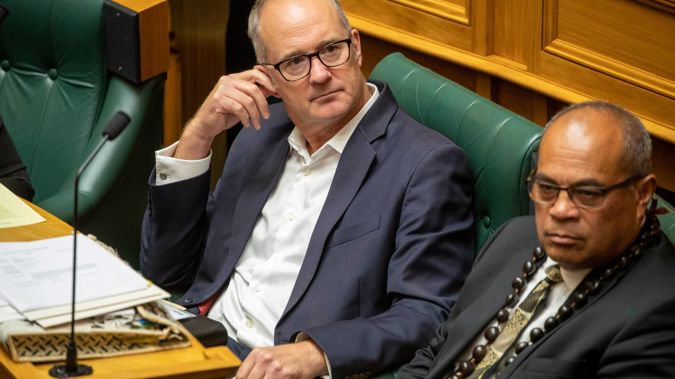 Labour MP for Te Atatu Phil Twyford tie-less in the House during Question Time today. Photo / Mark Mitchell
