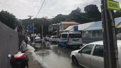Aro Street was flooded following a recent pipe explosion. Photo / NZ Herald