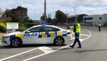 Explosion risk as container hangs above LPG cylinders in Christchurch railyard