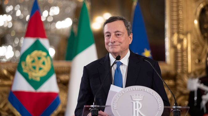 Mario Draghi will succeed Giuseppe Conte as Prime Minister of Italy. Photo / AP