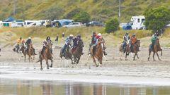 Last year's race at Kaiaua Beach. Photo / Paul Rickard