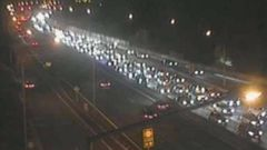 Traffic on the Southern Motorway heading north just before 10pm on Sunday. Photo / NZTA