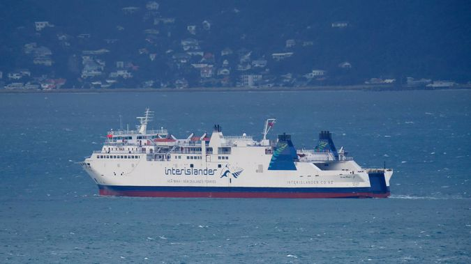 KiwiRail's Interislander ferry Aratere on Wellington Harbour. Photo / File