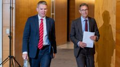 Covid-19 response minister Chris Hipkins and Director-General of Heath Dr Ashley Bloomfield. (Photo / Herald)