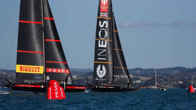 Ineos Team UK claim crucial win in Race 6 of the Prada Cup final. Photo / Dean Purcell