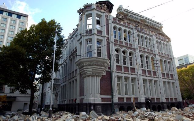 The Press building in Christchurch after the 6.3 magnitude earthquake which struck the city of February 22. (Photo / NZ Herald)