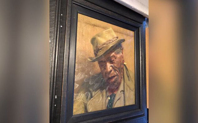 The Goldie painting, Sleep 'tis a Gentle Thing, was stolen during a burglary of a Hamilton home. Photo / Supplied