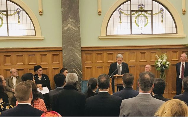 Winston Peters' farewell. (Photo / Barry Soper)