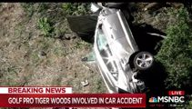 Tiger Woods in hospital after being pulled from wreck