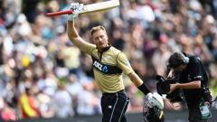 Martin Guptill leaves the field out for 97. Photo / Photosport