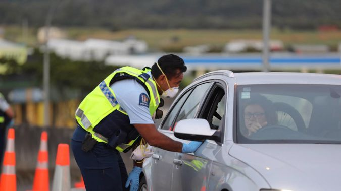 Roadblocks like this one have been established at Auckland's regional borders. Photo / Hayden Woodward