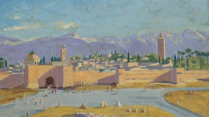 Churchill created the painting after attending the Casablanca Conference in 1943. (Photo / Christies)