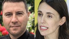 Vaughan Couillault and Jacinda Ardern. (Photo / NZ Herald)