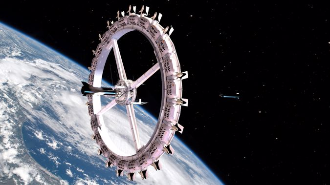 The hotel Voyager Station is set to be built by Orbital Assembly Corporation, a new construction company run by former pilot John Blincow, who also heads up the Gateway Foundation.