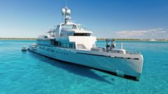 The luxury 85-metre-long motor yacht Bold owned by German billionaire Guido Krass. Photo / Supplied