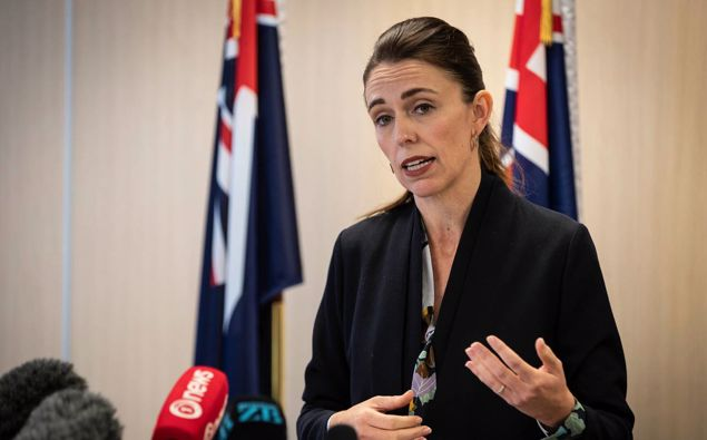 Prime Minister Jacinda Ardern addresses the issue of gun violence two years after the Christchurch terror attacks. Photo / Jason Oxenham