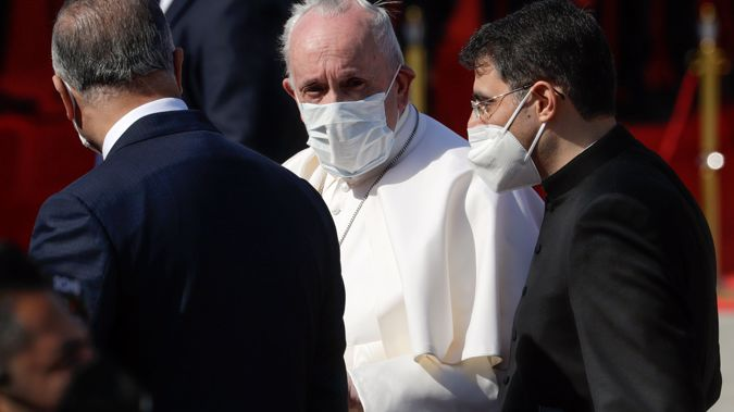 Pope Francis on a visit to Iraq on March 5. (Photo / AP)