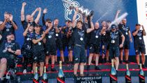 New Zealand celebrates after Team NZ win the 36th America's Cup