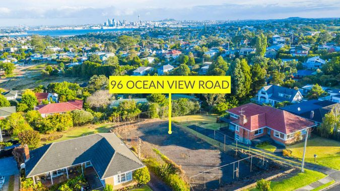 A former tennis court with beautiful city views has sold for $2.2 million at auction. Photo / Supplied