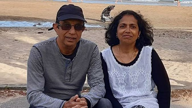 Herman Bangera, left, and his wife Elizabeth. Photo / Supplied