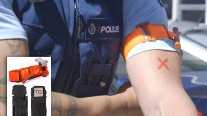 The police issued tourniquets. Photo / Supplied