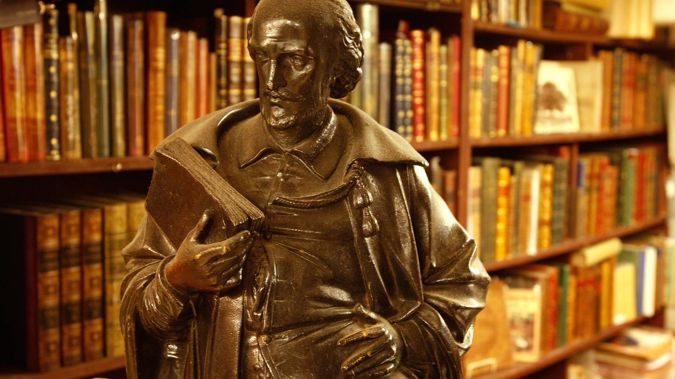 Endangered: Consultants have advised at least two low-decile schools to abandon Shakespeare, seen here at Auckland's Rare Books shop. Photo / Brett Phibbs