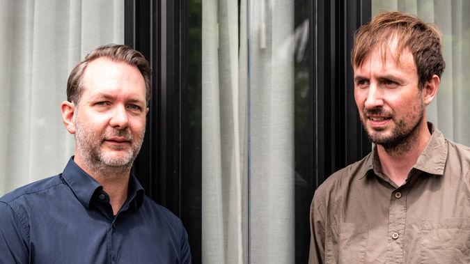 Letterboxd co-founders Matthew Buchanan and Karl von Randow. (Photo / Birgit Krippner)