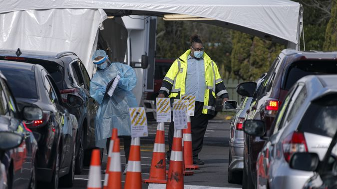 People waiting to get tested in Auckland during the August outbreak. (Photo / NZ Herald)