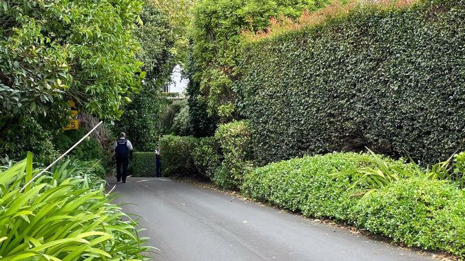 Police are on the scene of a death in Remuera. Photo / Miriam Burrell