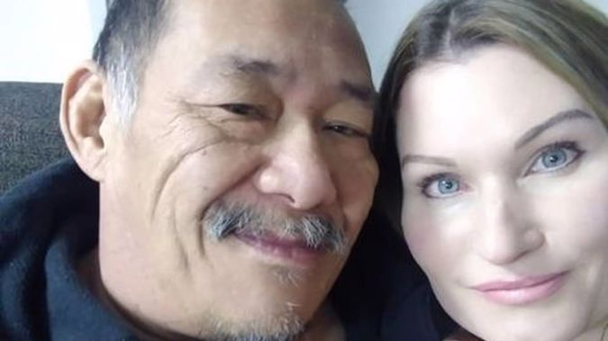 Peter Lui, pictured with his wife Kelly Cook, will be laid to rest at Napier's War Memorial Centre today. Photo / Supplied