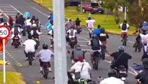 Watch: Police release behind the scenes sting on Auckland dirt bike stunt mob