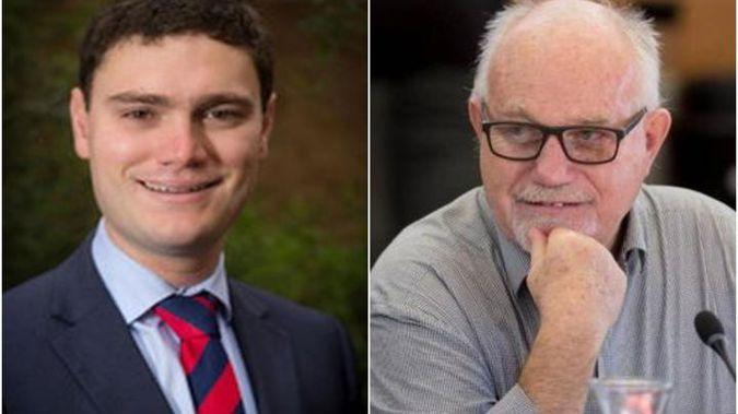 Taxpayers' Union spokesperson Jordan Williams and Hamilton City Councillor, Dave Macpherson. (Photo / RNZ)