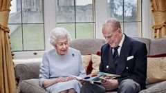 The Queen, Prince Philip marking their 73rd wedding anniversary in lockdown last year. (Photo / AP)