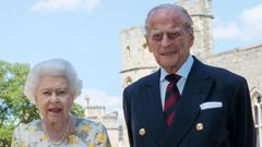 The Queen and Prince Philip celebrating his 99th birthday last year. (Photo / AP)