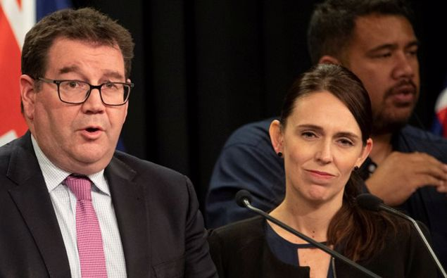 Finance Minister Grant Robertson and Prime Minister Jacinda Ardern. (Photo / NZ Herald)