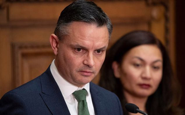Green Party co-leaders James Shaw and Marama Davidson. (Photo / NZ Herald)