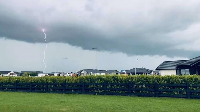 "Cambridge resident Cassie Jones said the ""impressive"" storm produced ""the loudest thunder I've ever heard""."