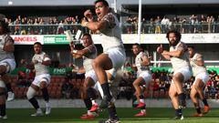 Moana Pasifika's traditional challenge ahead of their clash against the Māori All Blacks last year. Photo / Photosport