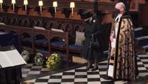 Pictures from Prince Philip funeral - Queen mourns alone; William and Harry walk together