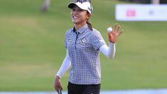 Lydia Ko reacts after winning the Lotte Championship golf tournament in Kapolei, Hawaii. Photo / AP