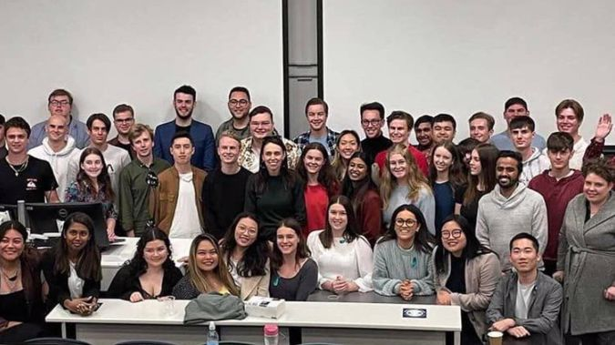 Prime Minister Jacinda Ardern dropped in at the Young Labour conference in Auckland at the weekend. Photo / Facebook