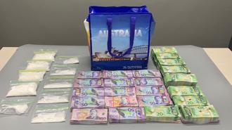 $450,000 worth of cash and methamphetamine found near crashed vehicle