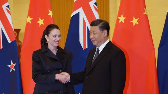 Prime Minister Jacinda Ardern and Chinese President Xi Jinping in Beijing during a 24-hour visit there in April 2019. Photo / Supplied