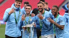 Manchester City clinched a fourth consecutive League Cup title on Sunday after beating Tottenham Hotspur 1-0 at Wembley. (Photo / CNN)