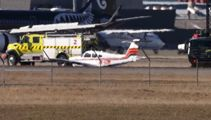 Plane crashes at Christchurch airport