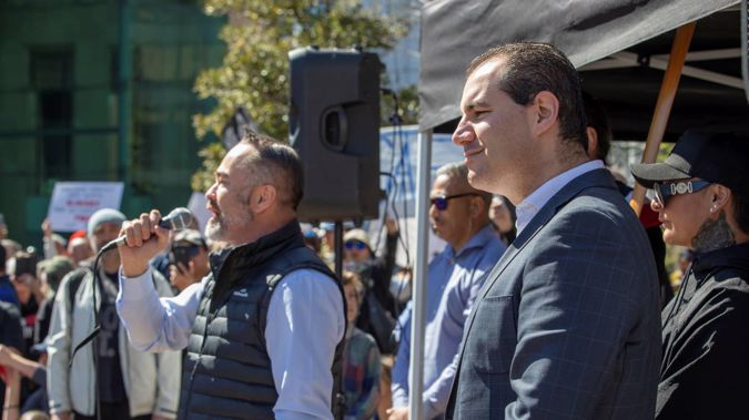 Advance New Zealand is led by disgraced former National MP Jami-Lee Ross (right), and contested the 2020 election in a pact with Billy Te Kahika's (left) New Zealand Public Party. (Photo / File)